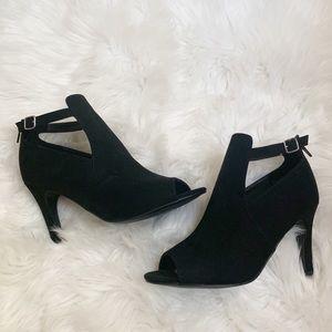 Torrid - Cut Out Heel Bootie Faux Suede - 8.5 W